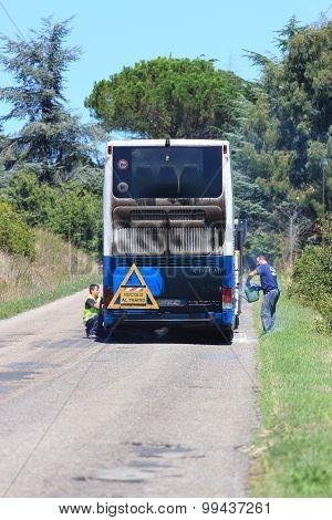 Cotral Bus Breakdown