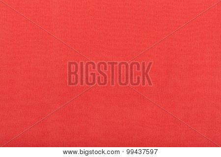 Background From Red Batiste Fabric