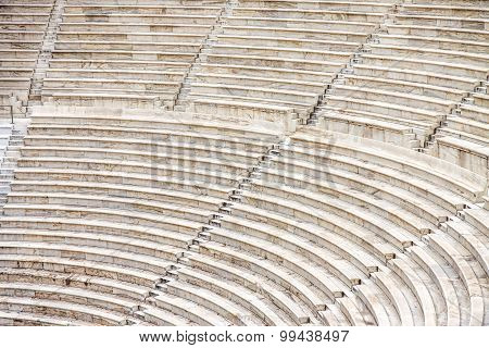 Seats of ancient Odeon of Herodes Atticus, Athens