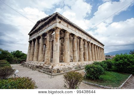 Teseo's Temple in Ancient Agora .Athens.Greece
