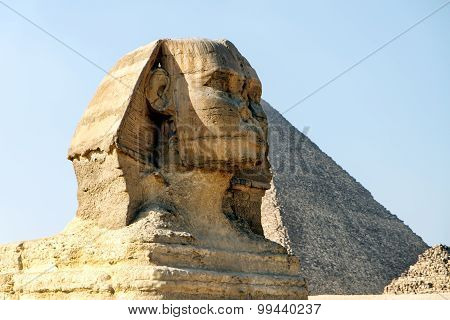 The Great Sphinx and Pyramid of Giza, Egypt