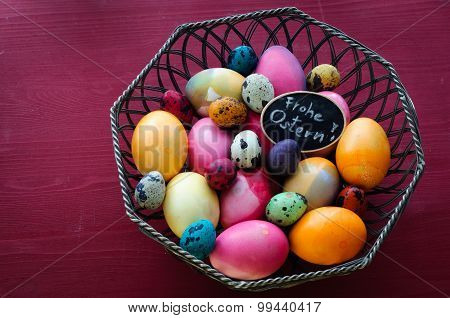 Colorful Chicken And Quail Eggs -