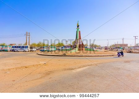 Road Intersection In Sudan