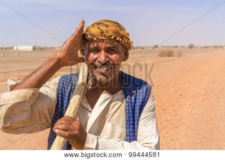 Bedouin Portrait, Sahara Desert In Sudan