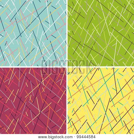 Stylish Geometric Striped Background. Vector Seamless Pattern Of Color Lines.