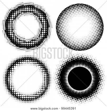 Abstract Halftone backgrounds, vector design.