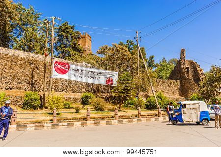 Entrance To Fasilides Castle In Gondar In Ethiopia