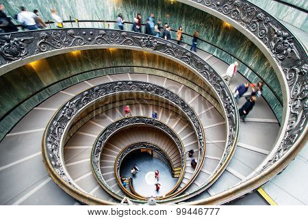 Spiral stairs of the Vatican Museums in Vatican, Rome, Italy