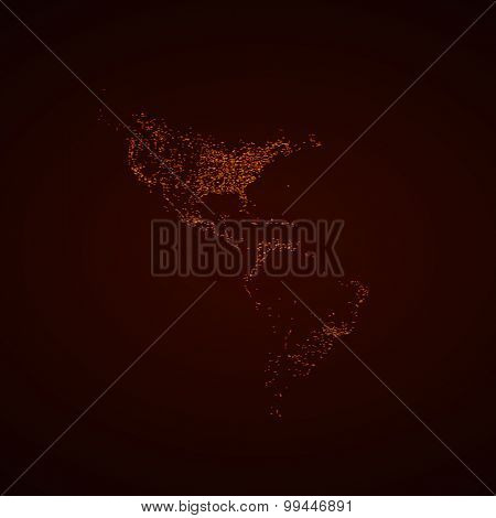 America USA light map easy all editable
