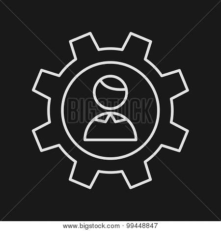 Thin Line Management Web Icon