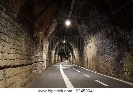 Pedestrian tunnel linking Levanto to Bonasolla, Cinque Terre, Italy
