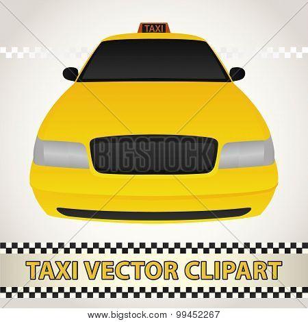 Taxi Vector Clipart