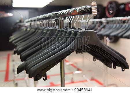 Cloth rack with a lot of hangers