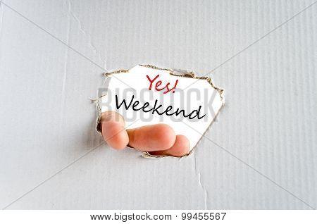 Weekend Text Concept