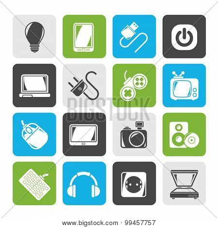 Silhouette Electronic Devices objects icons