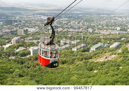 Old Cable Car On Mount Mashuk