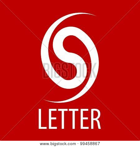 Vector Logo Spun Letter S On A Red Background