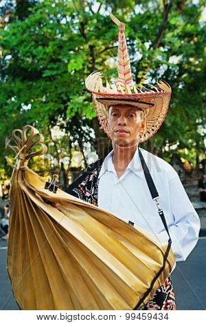 Portrait Of Nusa Tenggara Man In Traditional Costume