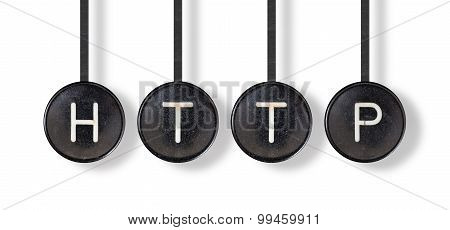 Typewriter Buttons, Isolated - Http