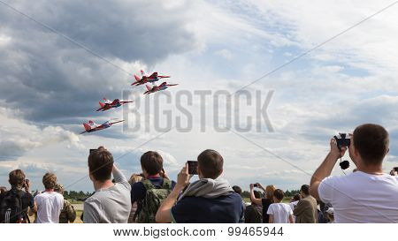 Flight Four Mig-29 Swifts Aerobatic Team