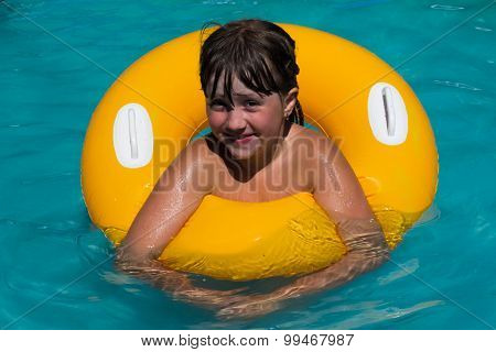 Girl On A Circle In The Water