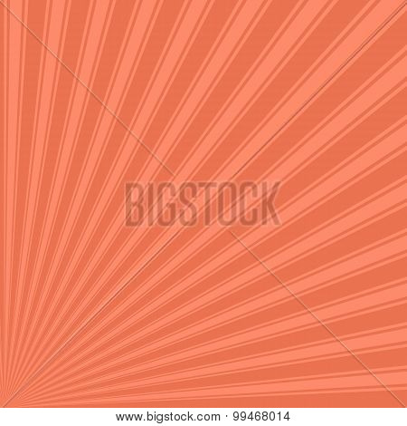 Burnt sienna Color Stripe Funky Sun Rays Backgound