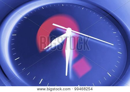 Question Mark On Wall Clock