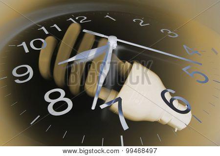 Wall Clock And Light Bulb
