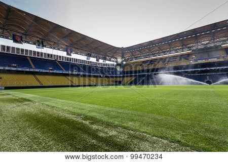 View Of Fenerbahce Sukru Saracoglu Stadium In Istanbul, Turkey