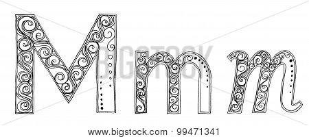 M Vanda Freehand Pencil Sketch Font