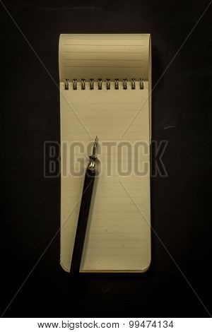 Blank Book Isolated On Grey To Replace Your Design Vintage