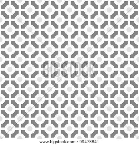 Seamless background pattern with circles and lines
