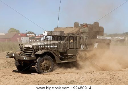 Half track in dust
