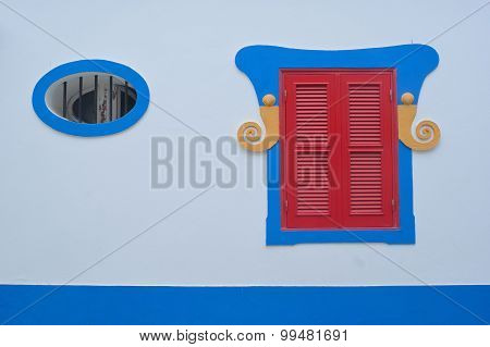 Brighty painted window shutter and frames