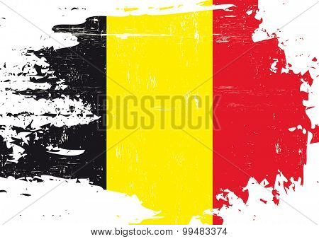 Scratched Belgian flag.j A Belgian flag with a grunge texture