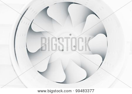 fan blades of modern ventilation system