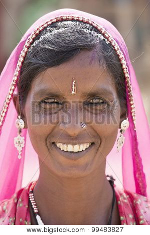 Portrait Indian Woman. Pushkar, India