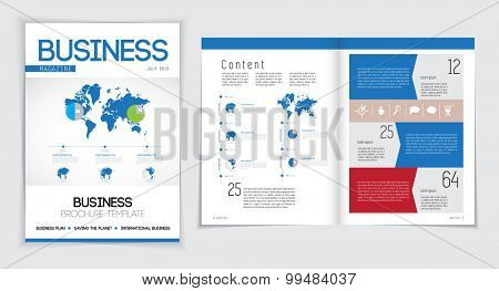 Layout business magazine, vector