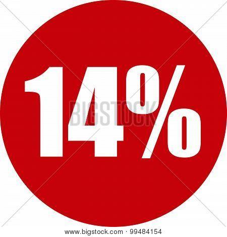 14 Percent Icon