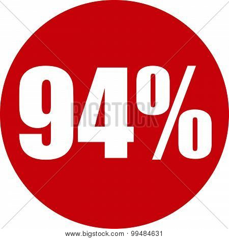 94 Percent Icon