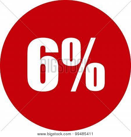 6 Percent Icon