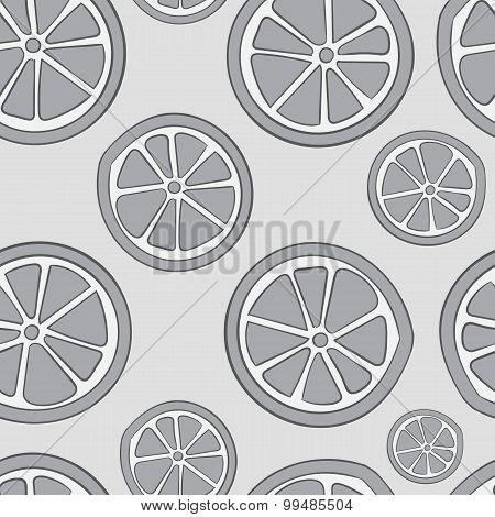 Seamless gray citruses