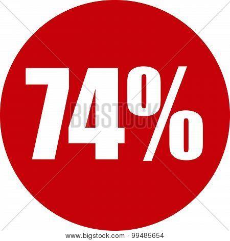 74 Percent Icon
