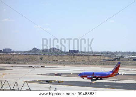 Southwest Airlines Boing-737 in Sky Harbor, AZ
