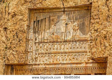 Naqsh-e Rustam tomb relief