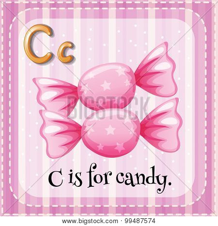 Letter C is for candy illustration