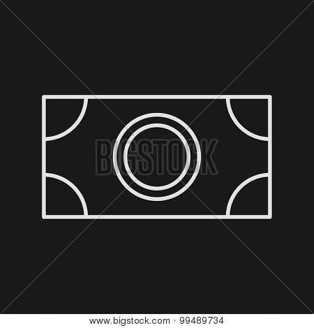 Thin Line Money Web Icon