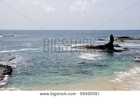 Ocean Gap Between Boulders