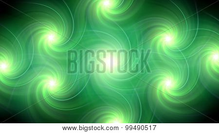 Twirl Flare Pattern Green Blur