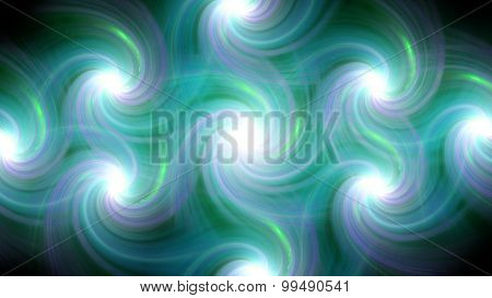 Twirl Flare Pattern Sea Blue Line Fade Out